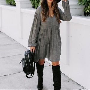 Vermont Plaid babydoll dress
